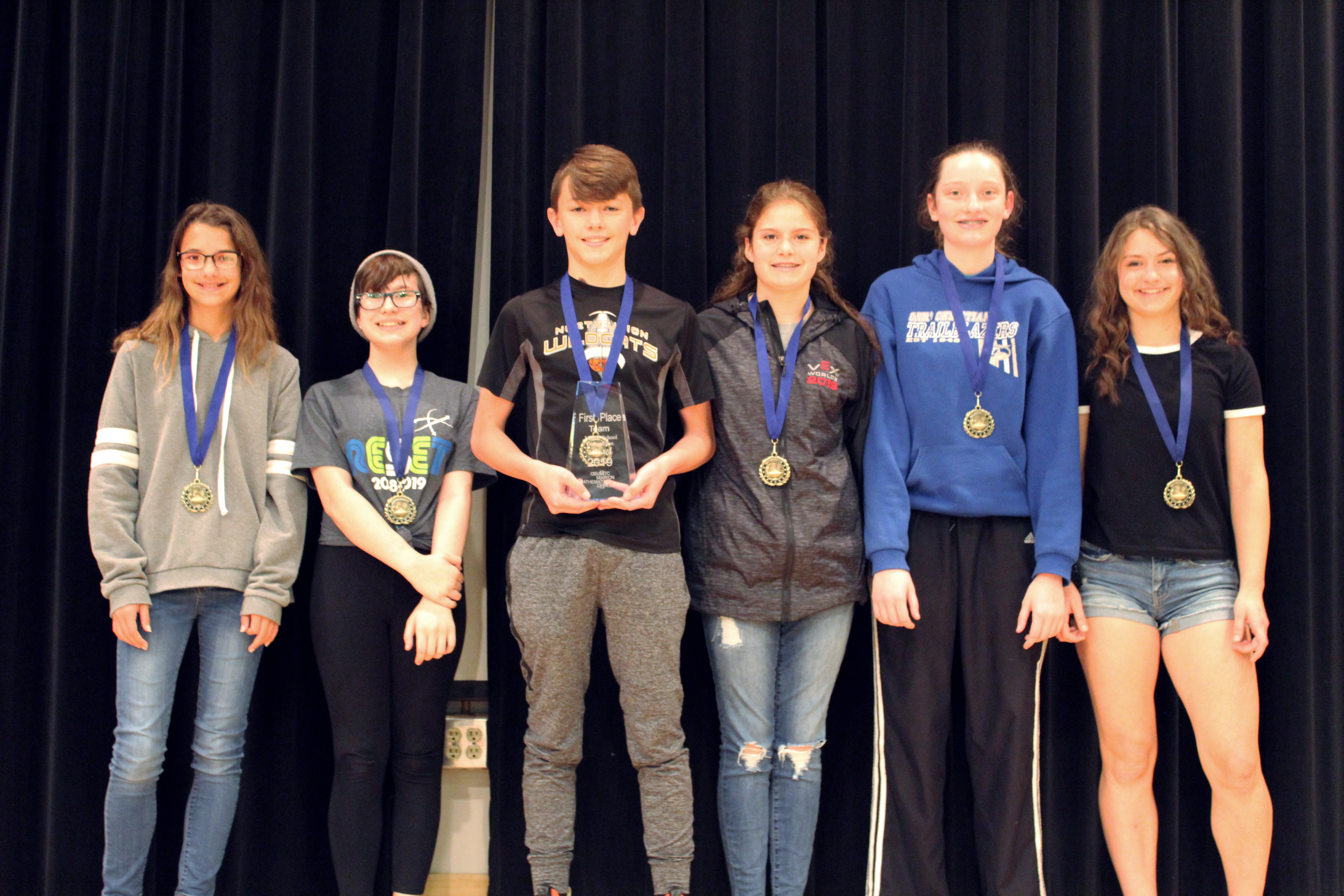 Area middle school students win scholarships at math challenge
